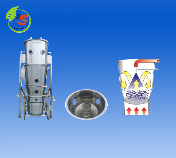 Fluidized bed pelletizing and coating machine